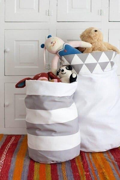 Reversible Fabric Storage Bags