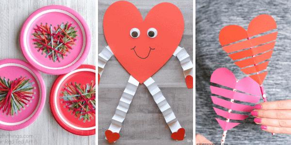 Valentine Hearts Crafts for Kids