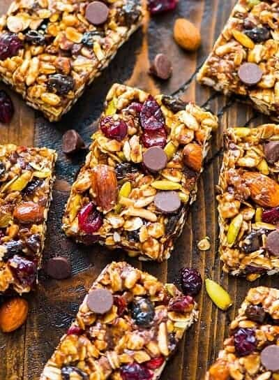 Peanut Butter Granola Bars with Chocolate Chips