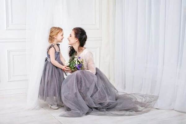 mother and daughter wedding photo