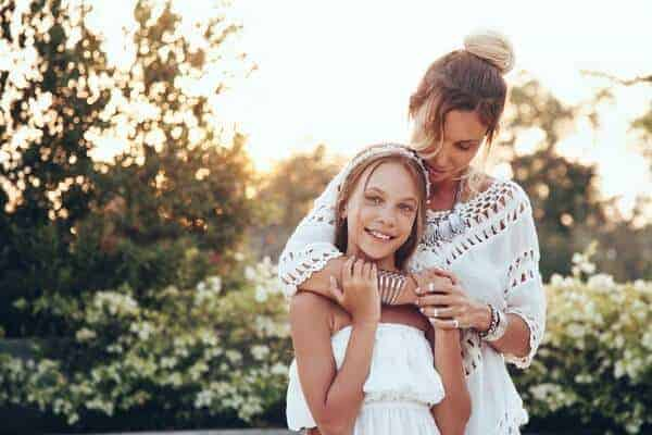 mother daughter bohemian style photoshoot