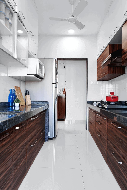 white and oak kitchen cabinets