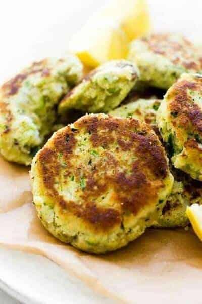 Paleo Vegan Zucchini Cauliflower Fritters
