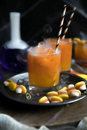 Carrot and Orange Juice Gin Cocktail