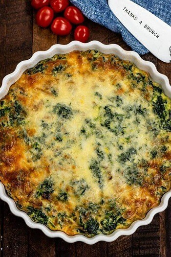 Spinach Crustless Quiche