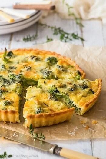 Vegetarian Broccoli Quiche