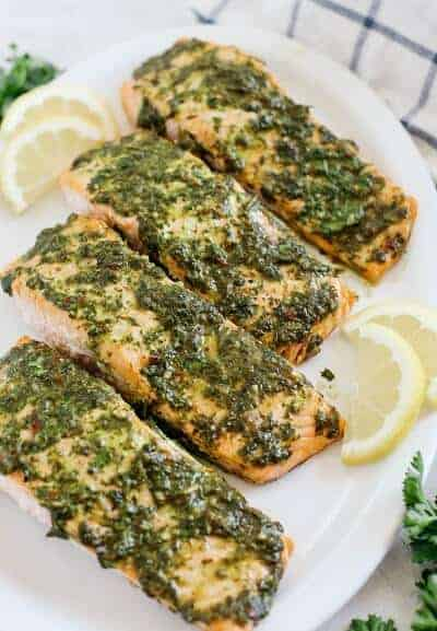 Chimichurri Baked Salmon