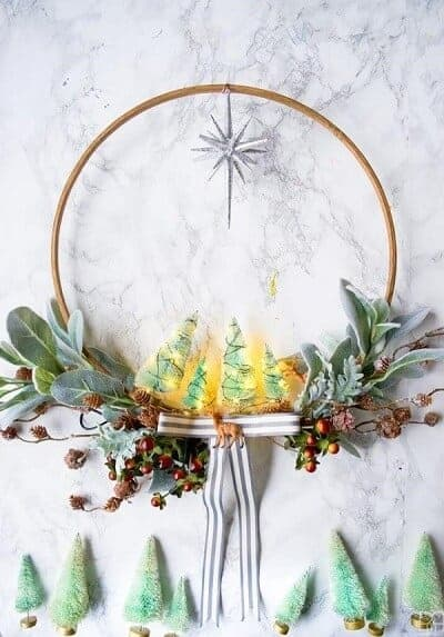 DIY Minty & Cool Holiday Wreath