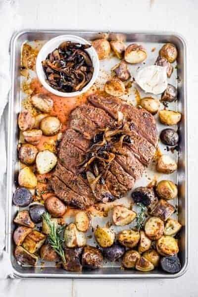 Garlic Herb Steak and Potatoes