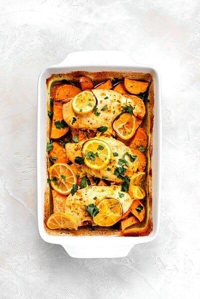 Lemon Chicken and Sweet Potatoes