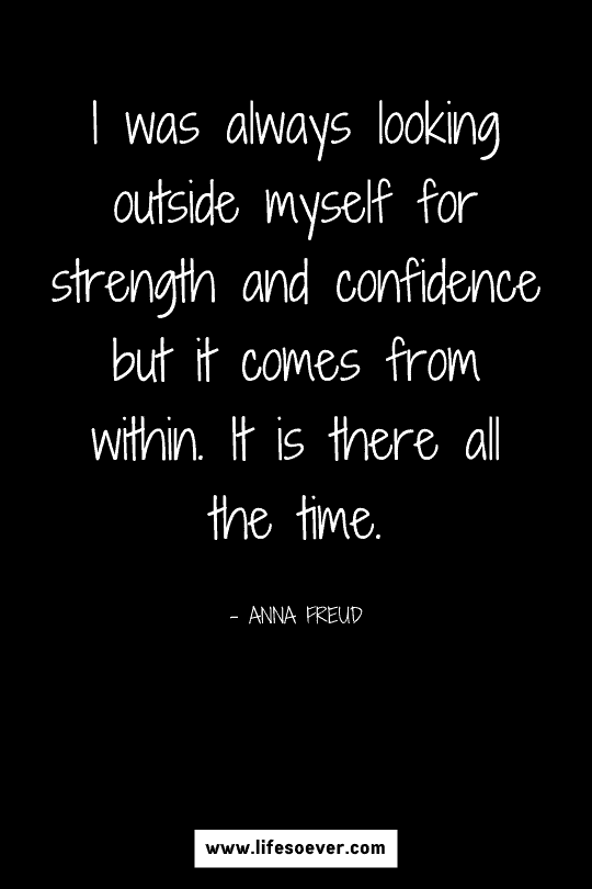 quote about inner strength and confidence