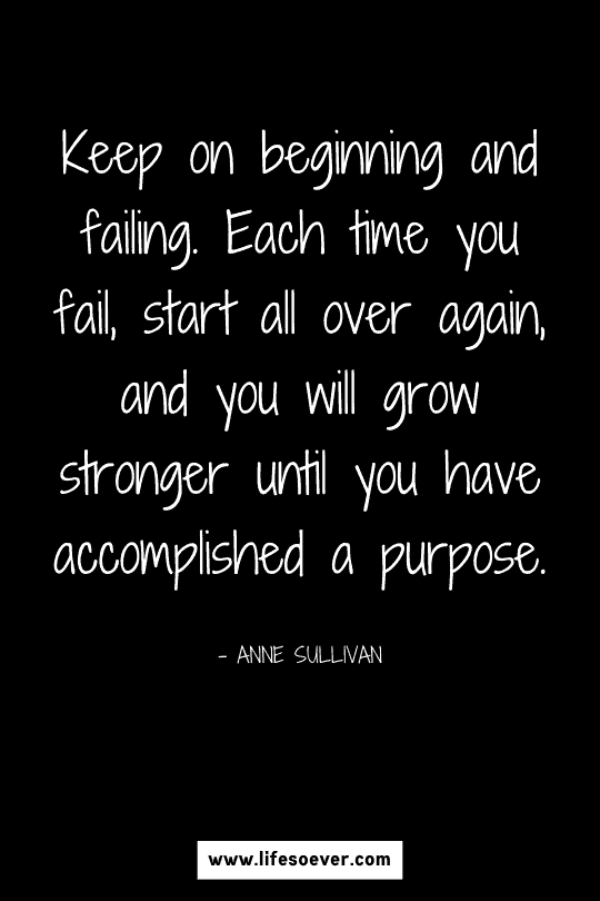 Inspirational quote about strength and growth to keep fighting and moving forward