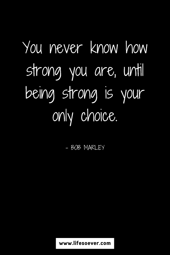 Inspirational quote about strength through hard times