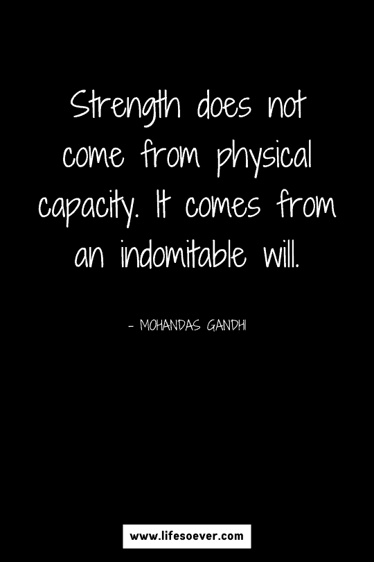 Inspirational quote about strength and perseverance