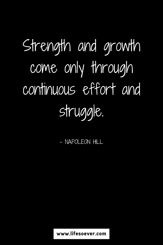 Motivational quote about personal growth and strength