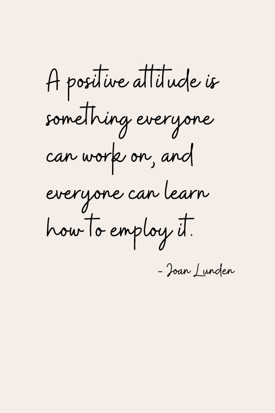 Quote about the power of positive thinking