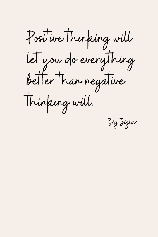 Positive thinking quote for work